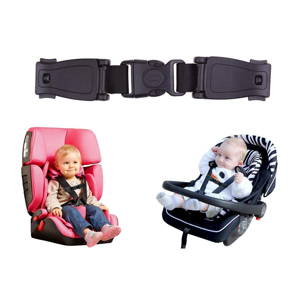 Car Baby Safety Seat Clip Fixed Lock Buckle Safe Belt Strap Harness Chest Child Clip Buckle Latch Toddler Clamp Black Car Seat Buckle Car Accessories