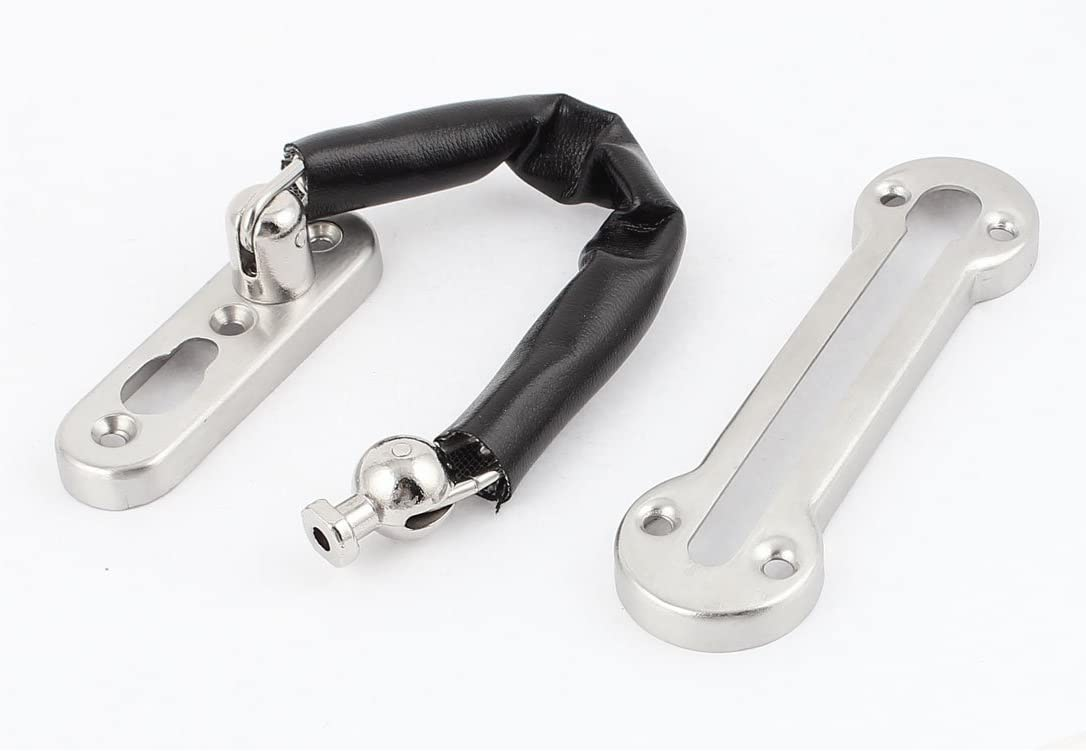 DOOR SECURITY HARD CHAIN GUARD BOLT LOCK HOME SAFETY WITH SCREWS HARDWARE NEW