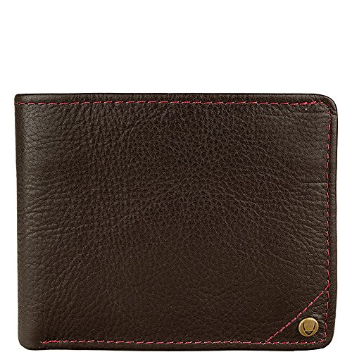 hidesign-angle-stitch-leather-slim-bifold-wallet-brown