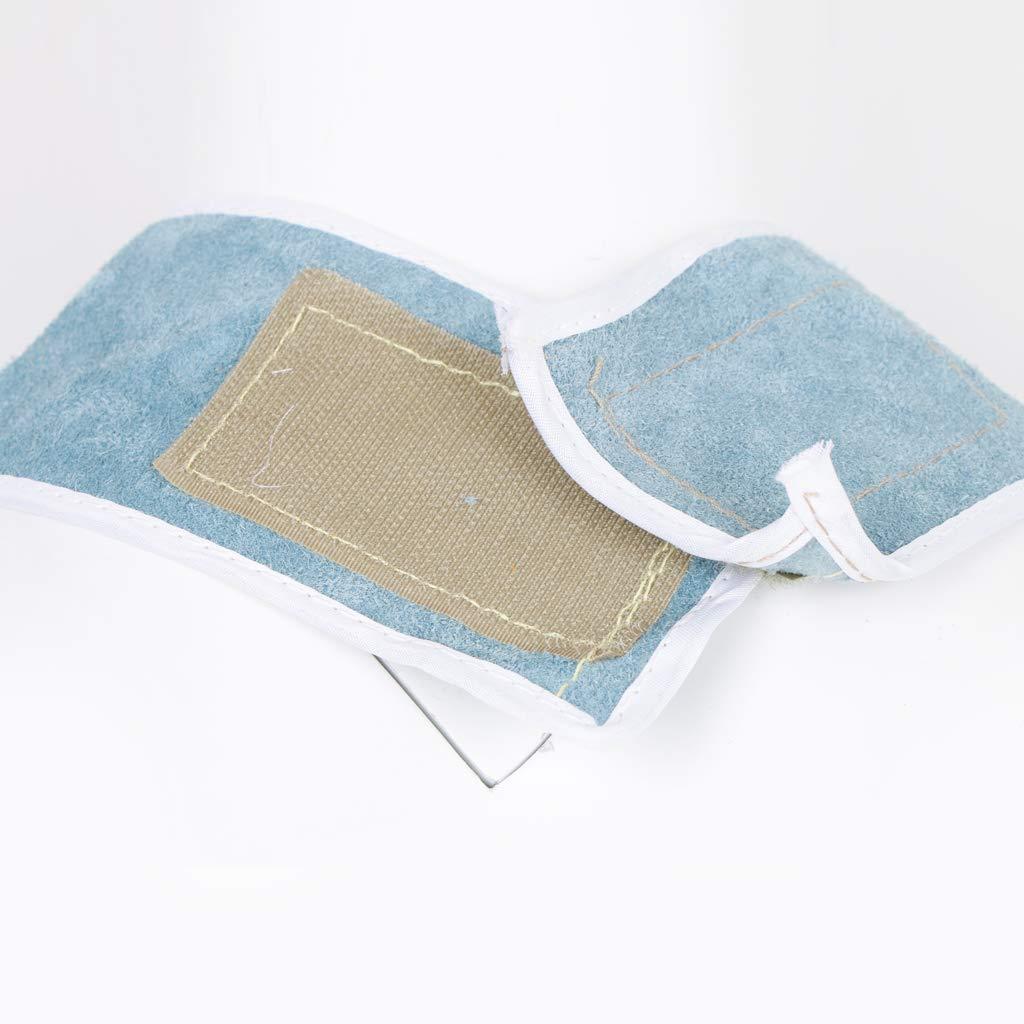 auch f/ür Arm und schenkel Komplette Schutz 150 cm Blau Homyl Schwei/ßer Sch/ürze W/ärmed/ämmung Rindsleder Schwei/ßen Schutz