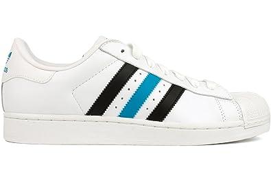 huge discount 0fdf5 16426 adidas Superstar II Men`s Sneakers - Running White Black Tourquise (13