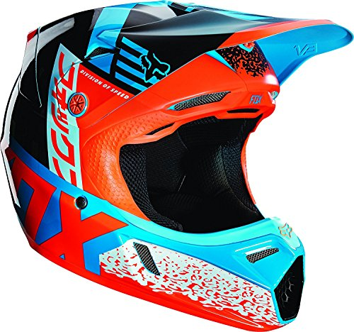 Fox Racing Divizion Youth V3 Motocross Motorcycle Helmet - Aqua / Large