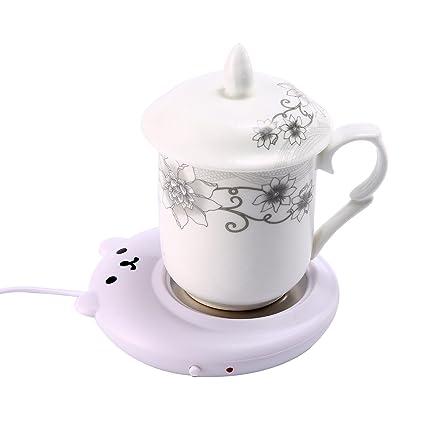 Leegoal (TM) taza de café calentador calentador de taza, eléctrico, USB de