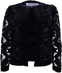 237dcf5b8279c Tahari ASL Womens Velvet Lace Velvet Jacket