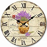 Large Wall Clock, Eruner Living Room Clock for Wall Decorative Wooden Wall Clock Lovely Timepiece Watch for Lounge Bedroom Office Bathroom, 16-inch