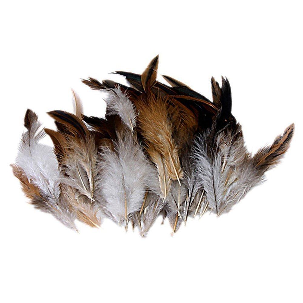 Jooks gallo gallo piuma naturale gallo gallo coda piume di alta qualità rubinetto Feather Craft Arts ideale per costumi cappelli Home Decor 50PCS