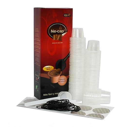 Nespresso capsulas vacías compatibles para cafetera 100u (Ne-cap ...