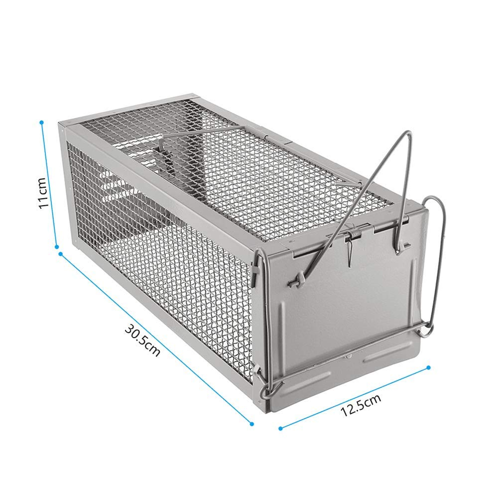 Trapro Humane Rat Trap Live Rat Trap Upgraded Thicken Steel High Sensitivity Humane Mouse Trap Capture Rodent in Live and Release Dimensions 30.5 X 12.5 X 11 cm