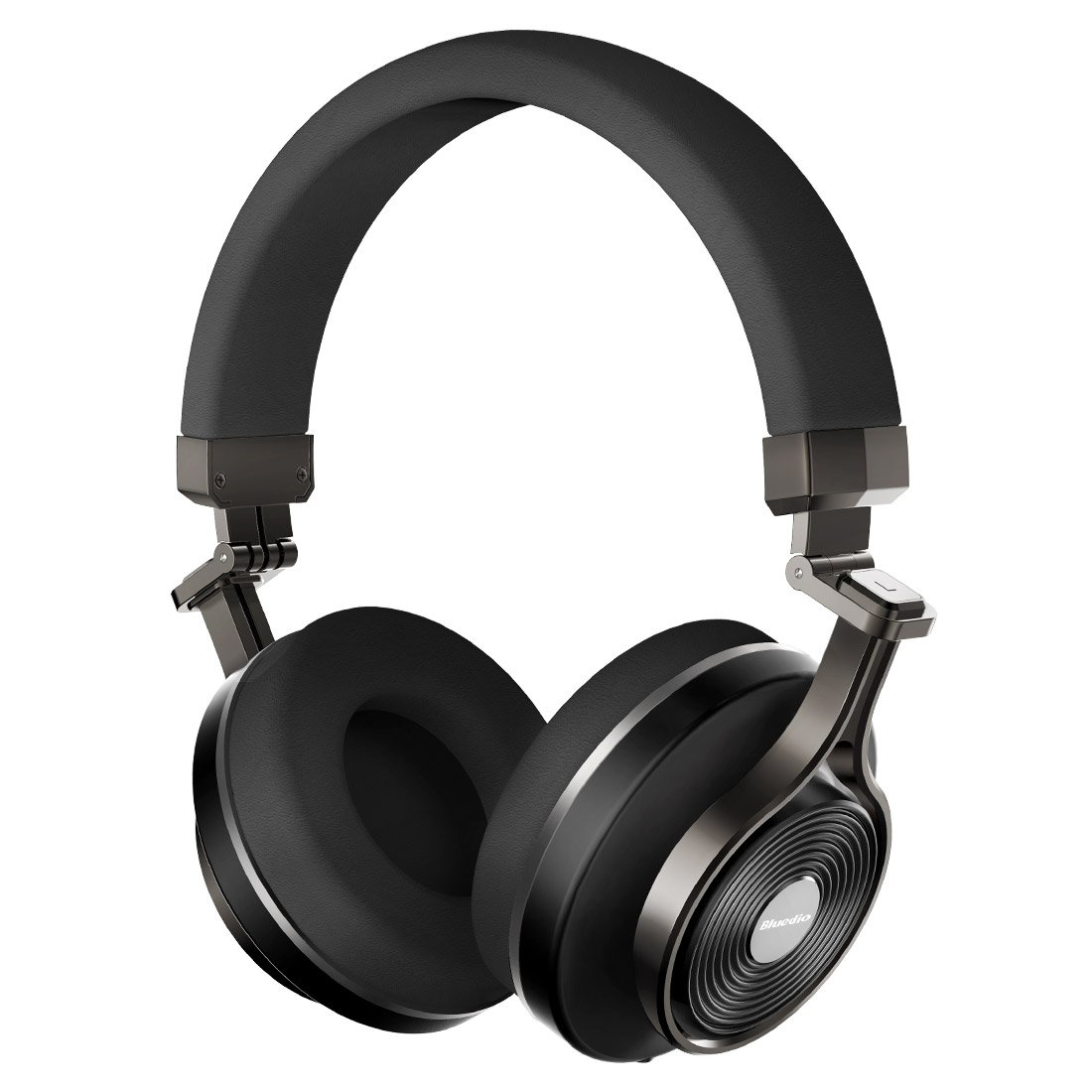 Bluedio T3 Extra Bass Bluetooth Headphones On Ear with Mic, 57mm Driver Folding Wireless Headset, Wired and Wireless Headphones for Cell Phone/TV/ PC Gift (Black)