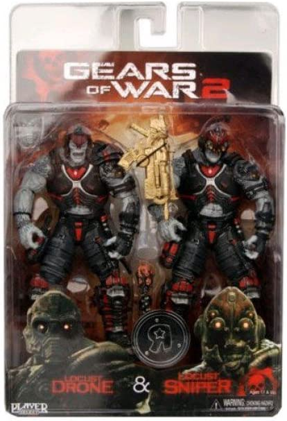 Neca - Double Pack Gears of War 18cm : Locuste Done & Sniper ...