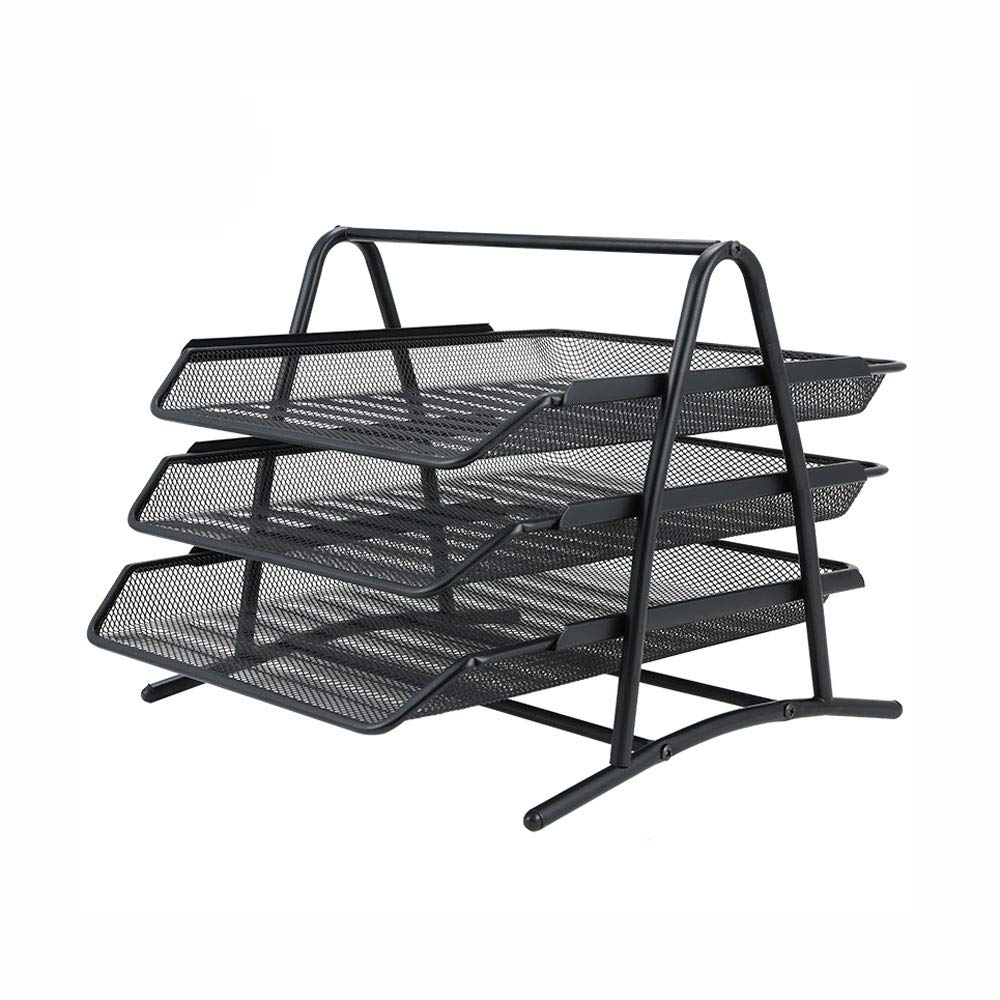 ZJ- Bookshelf Bookshelf - File Rack Information Frame Drawer File Box File Holder File Column Multi-Layer Storage Box Office Supplies Table Rack File Basket File Shelf &&