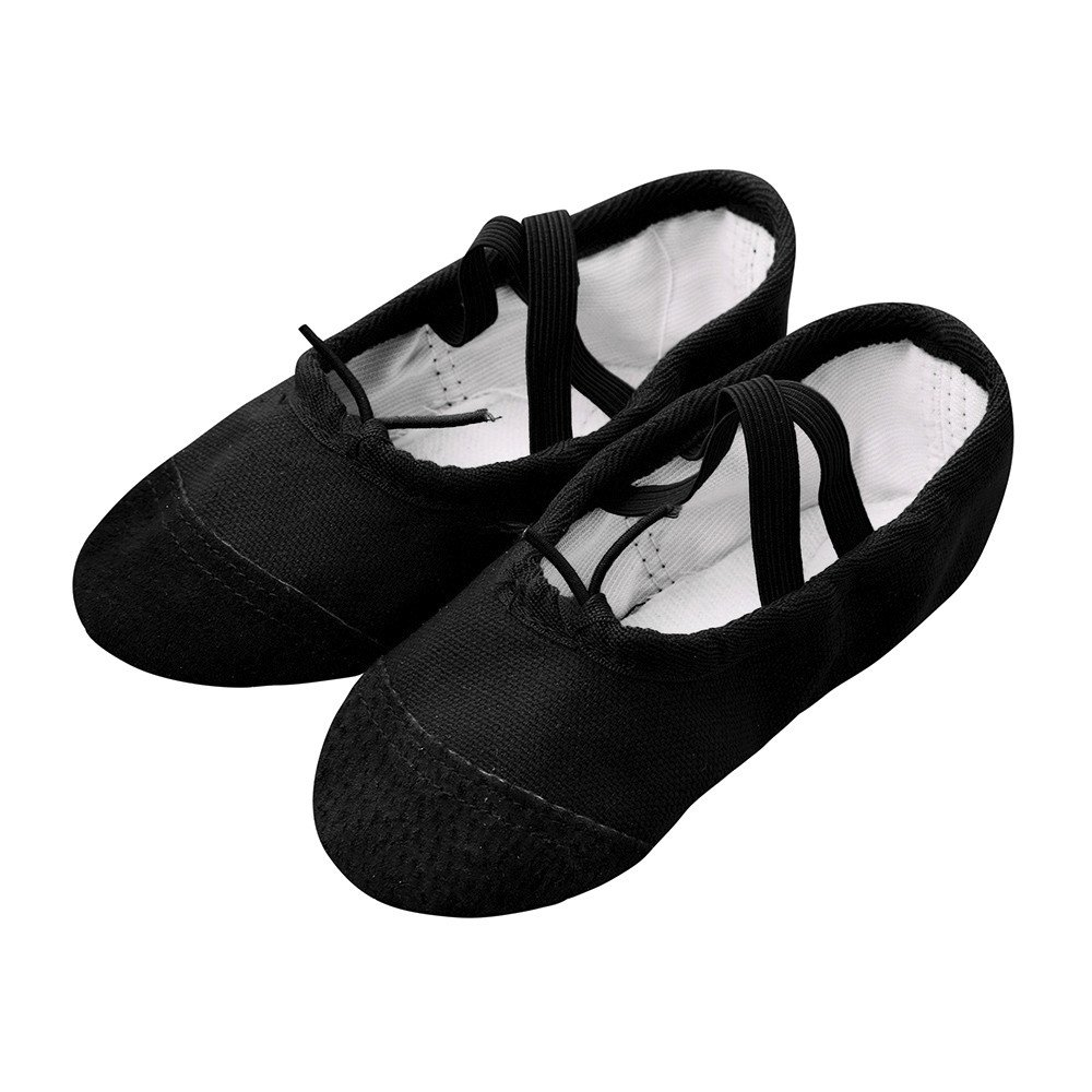 Tantisy ♣↭♣ Baby Shoes Girls  Fashion Kids Canvas Ballet Pointe Dance Shoes Fitness Gymnastics Latin Dance Shoes Black