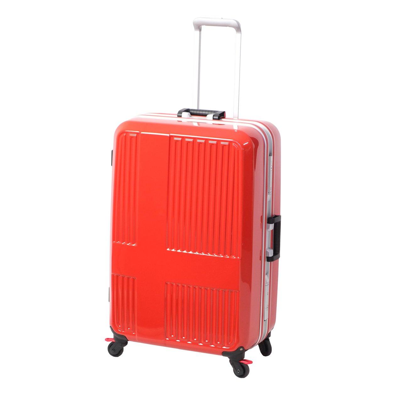[イノベーター] スーツケース ハードキャリー フレーム 10周年限定モデル | 90L | 5.7kg | 足踏みストッパー | 保証付 90.0L 76cm 5.7kg INV675  ミラーサンセットオレンジ/シルバー B074GL37GK