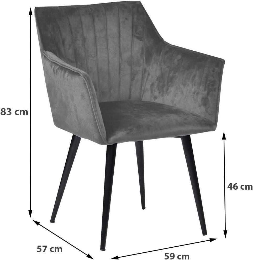 Nimara Mary Fluwelen Stoel Met Armleuning Eetkamerstoelen Stoelen Met Armleuning Scandinavisch Design Grijs Grijs