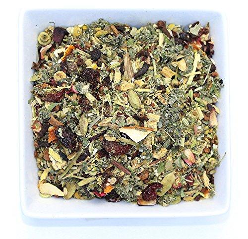 Tealyra - Calm Down - Nirvana - Chamomile Ginger Hibiscus - Wellness and Relaxing Herbal Loose Leaf Tea - Detox Tea - Caffeine-Free - All Natural - 220g (8-ounce) (Linden Herbal Tea)