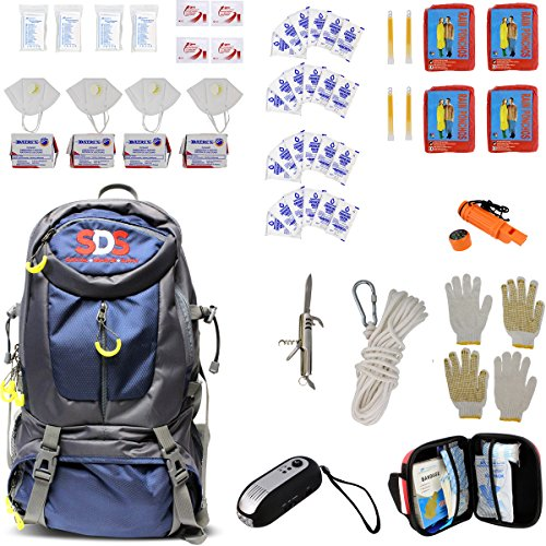 Zombie Survival Backpack (SDS Survival Backpack Emergency Disaster Prepper Gear Bag Food Kit Earthquake, Zombie Apocalypse Supplies 4 Person 72)