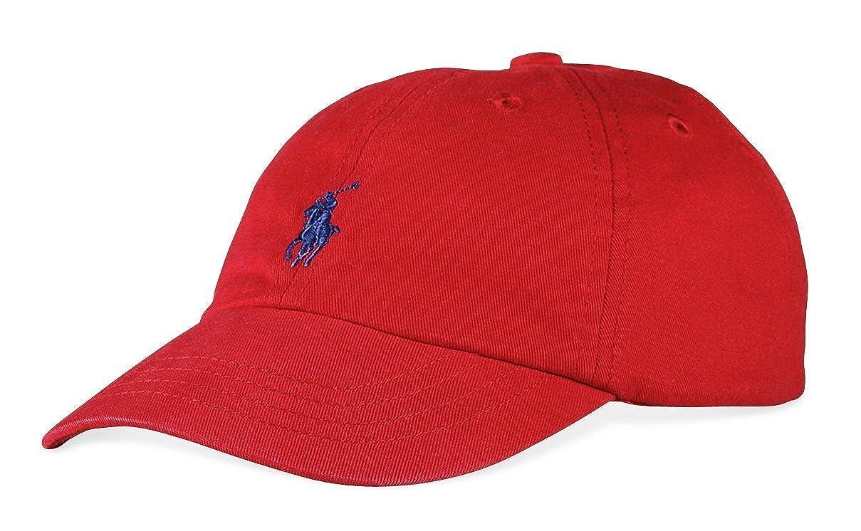Ralph Lauren Polo Baseball Cap Red Boys Size 4-7