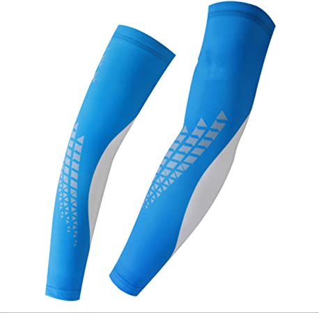 2 Pair Arm Warmers Cuff Sleeve Cover UV Sun Protection Leg Cover Cycling Bicycle