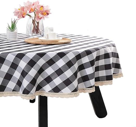 "New Cottage Chic Farmhouse Retro Vintage Black Gingham Check Table Runner 48/"""