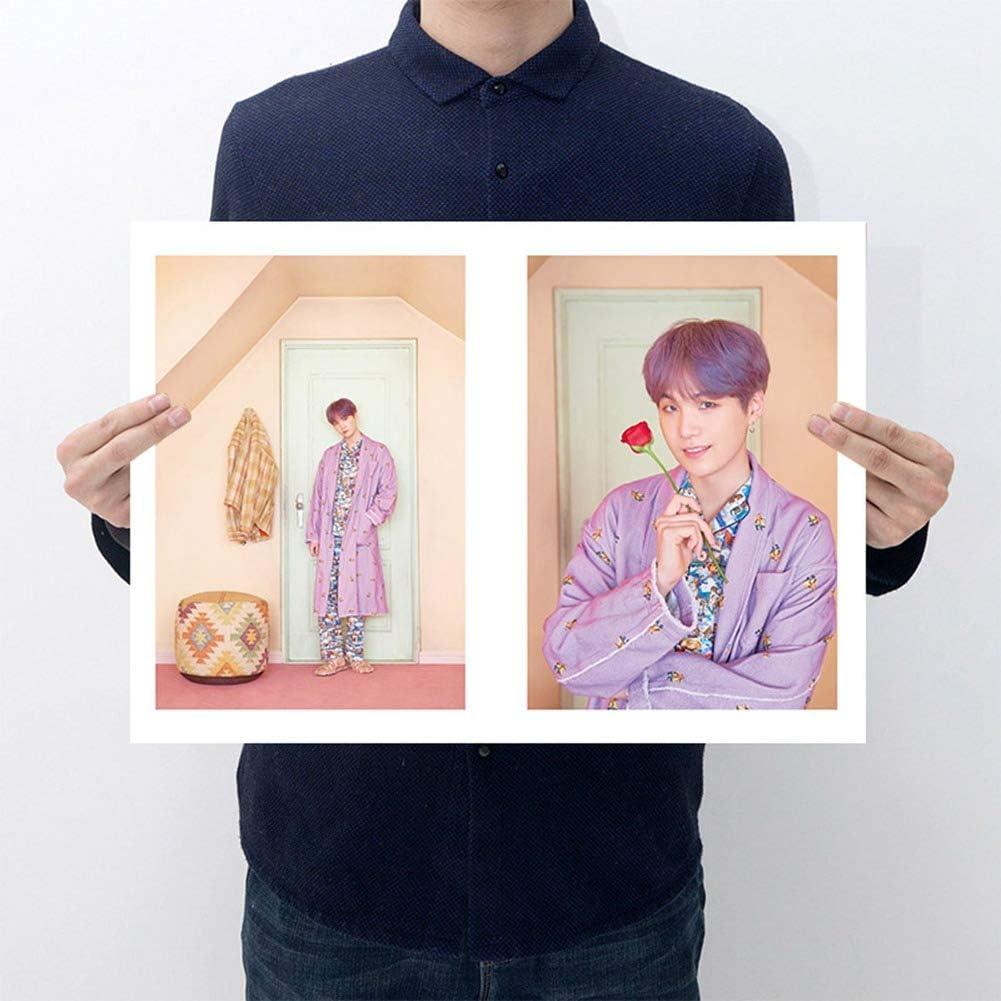 Zhongjiany Kpop Face Yourself Pster de pared Bangtan Boys Papel pintado Style08
