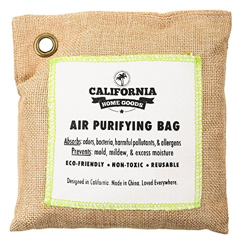 California Home 500g Activated Bamboo Charcoal Deodorizer Natural, Air Purifying Bag, Dehumidifier, Allergy-Free Filters, Odor Neutralizer for Home, Shoes, Car Trap Charcoal