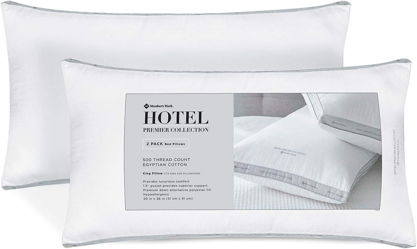 Hotel Luxury Reserve Collection Bed Pillow - King - 2 PK. by: Amazon.es: Hogar