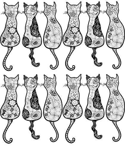 Cat Tales - 33419 - Ceramic Decal - Enamel Decal - Glass Decal - Waterslide Decal - 3 Different Size Sheet (Images) to Choose from. Choose Either Ceramic (Enamel) or Glass Fusing Decals