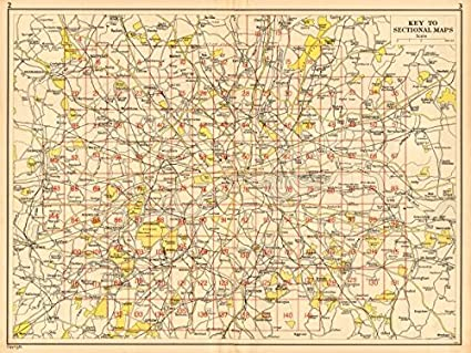 Amazon Com London Index Map Geographers A Z 1948 Old Map