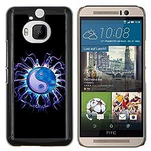Jordan Colourful Shop - Jellyfish Yin Yang Black Neon For HTC One M9+ / M9 PLUS Custom black plastic Case Cover