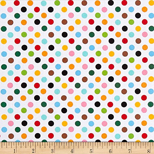 Studio E Fabrics 0564300 Little Explorers Polka Dot Multi Fabric by The Yard, Multicolor