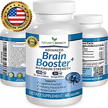 ★ ADVANCED Brain Booster Supplement Memory Focus & Mental Alertness PLUS FREE EBOOK Mind & Clarity Enhancer Ginkgo Biloba Complex Power Boost Nootropic 60 Concentration and Energy Pills
