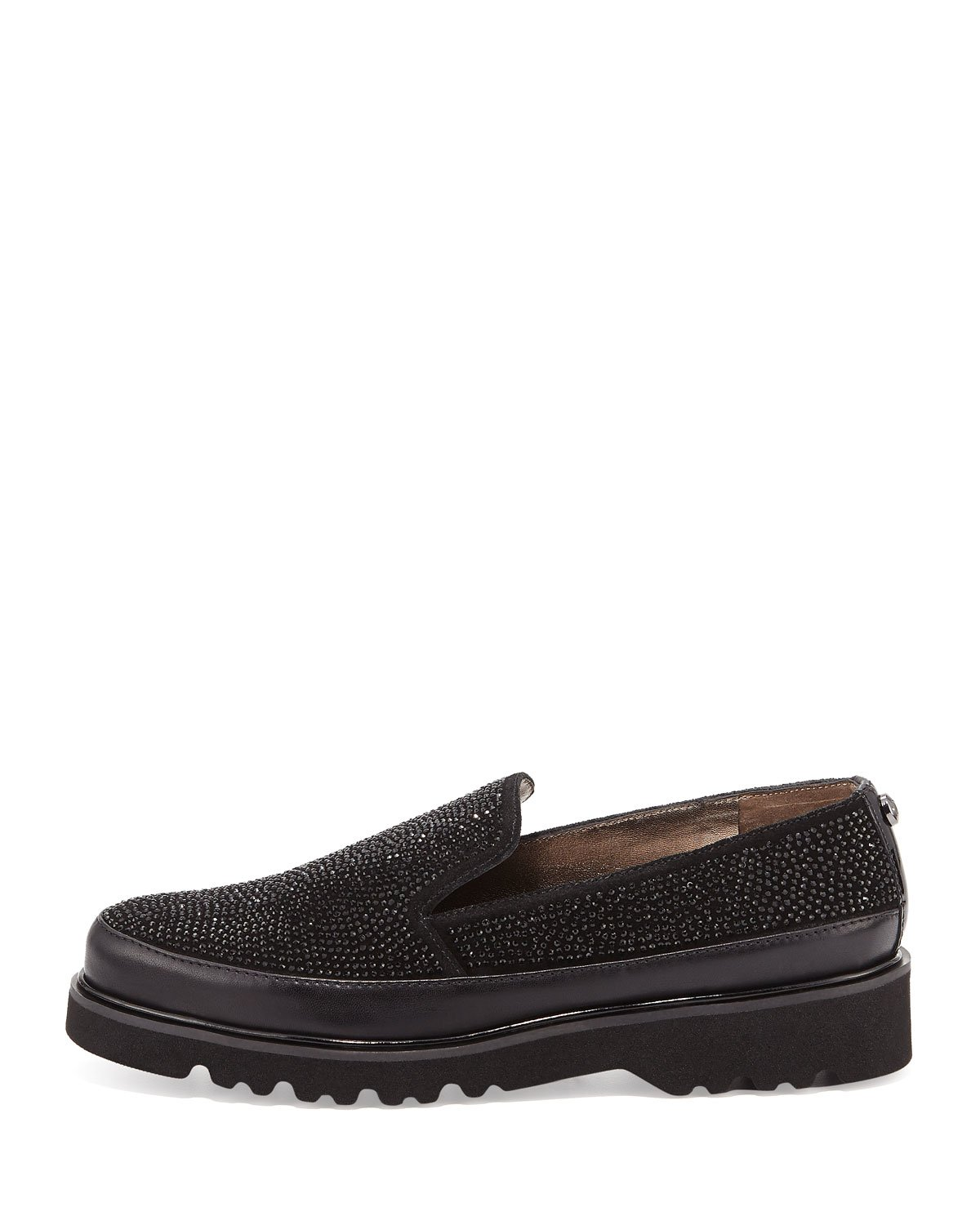 Donald J Pliner Womens Coco Leather Low Top Slip On Fashion, Black, Size 6.0