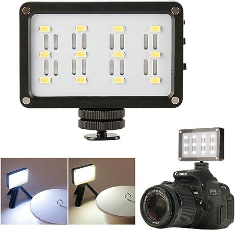 Ulanzi Cardlite Mini Cámara De Video Portátil Con Luz Led Para Cámara Réflex Digital Canon Nikon Con Filtro De Iluminación Fotográfica Amazon Es Electrónica