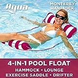 aqua monterey 4-in-1 multi-purpose inflatable hammock (saddle, lounge chair, hammock, drifter)