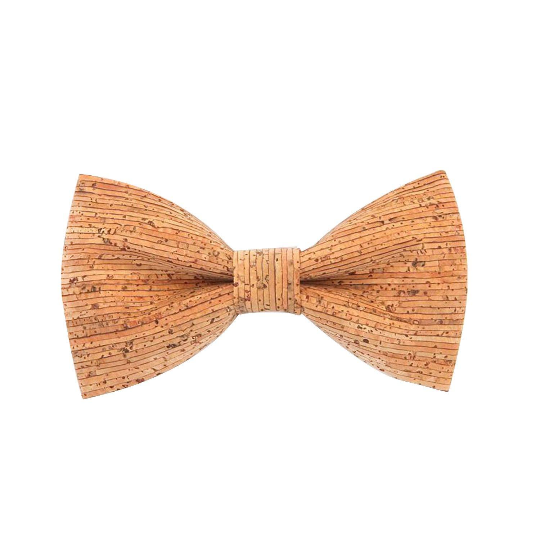 SODIAL Novelty Corkwood Pajaritas Para Hombre Boda Matrimonio Hecho A Mano Corcho Pajarita De Madera Rinc/óN Fuerte Corbatas Adultas Corbata 001