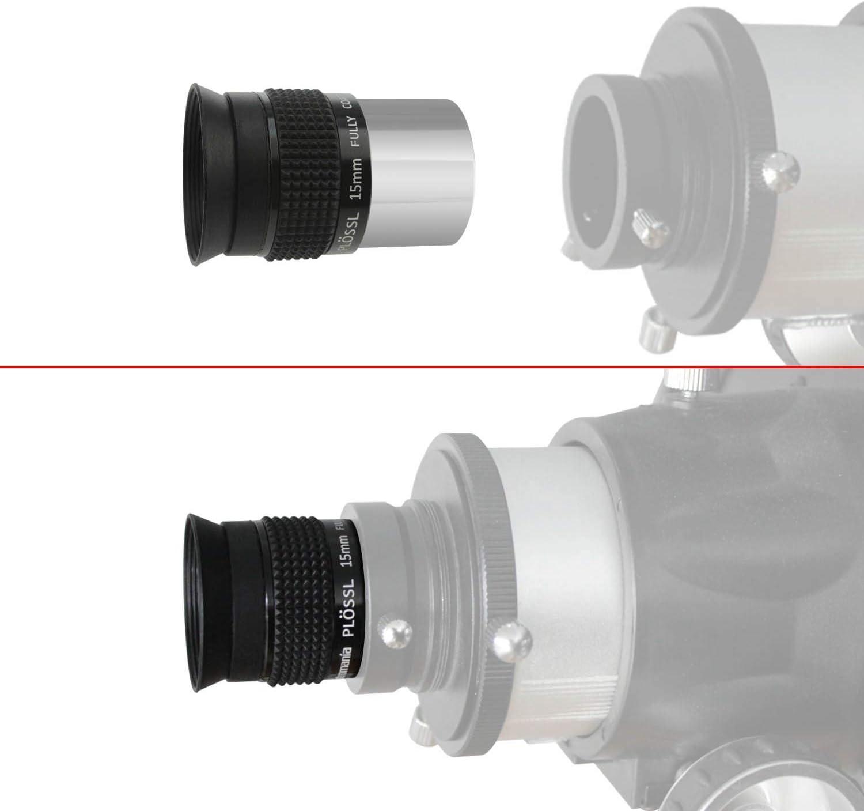4-Element Plossl Design Astromania 1.25 20mm Plossl Telescope Eyepiece Threaded for Standard 1.25inch Astronomy Filters