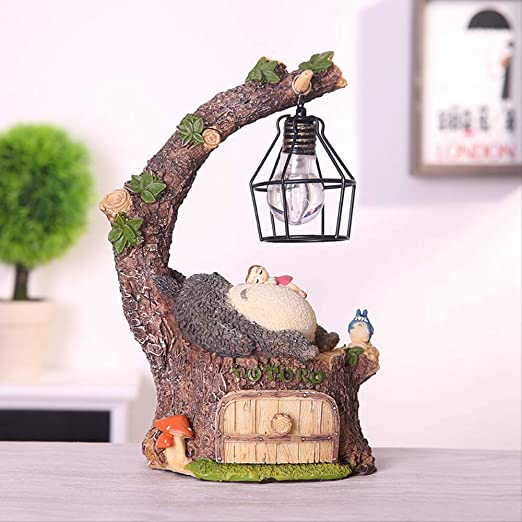 Decorativos Figuras Salon candelabros de Jardin Exterior Miniatura,Dibujos Animados Gato Gordo Decoración Luz Nocturna Micro Paisaje Creativo Lindo: Amazon.es: Hogar
