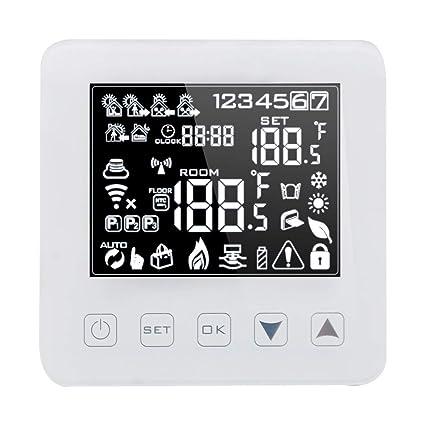 Onepeak Termostato inteligente programable de Alexa WiFi para calderas de agua/gas Calefacción del piso