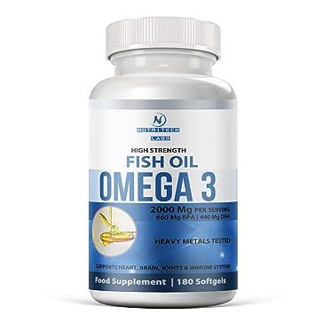 Omega 3 aceite de pescado – 2000 mg(fuerza extra) – alta dosis 1100
