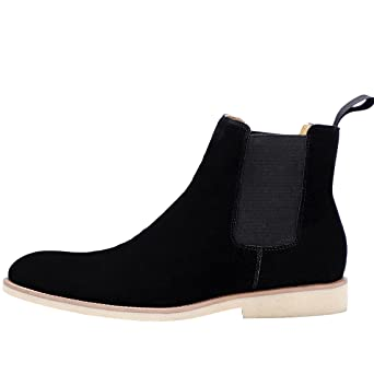 Amazon.com: Chelsea Boots For Mens Dress Suede Casual Pointed Toe Boot Business Outdoor Ankle-High Boots 3 Colors: Clothing