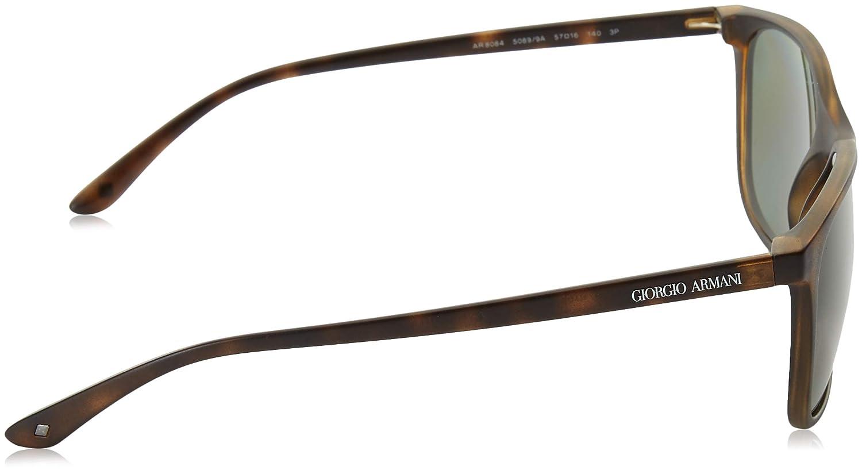 682bf857c81 Amazon.com  Giorgio Armani Mens Sunglasses (AR8084) Tortoise Matte Green  Plastic - Polarized - 57mm  Clothing