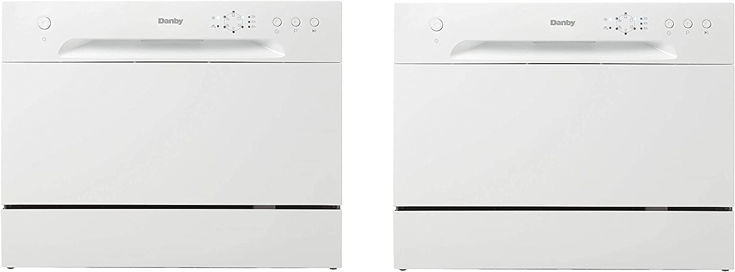 (New Model) Danby DDW621WDB Countertop Dishwasher, White (Twо Расk)