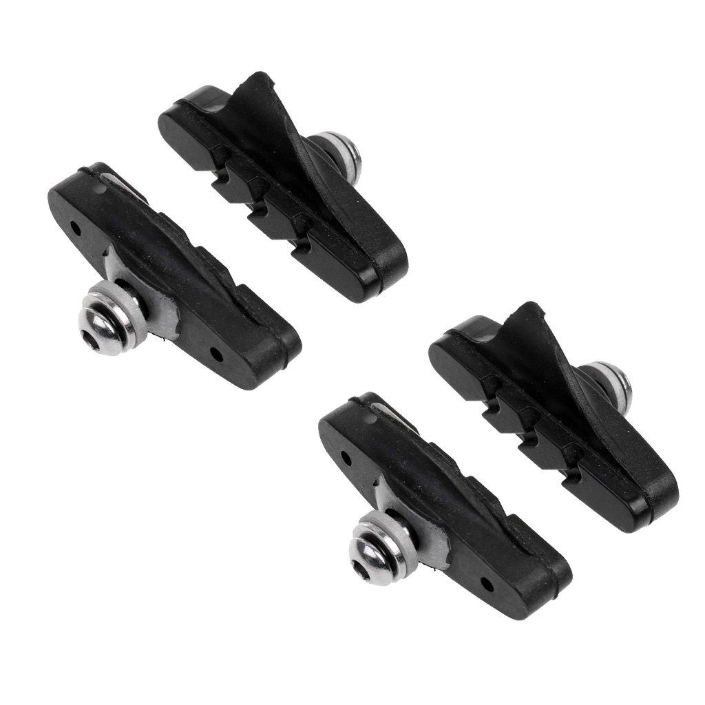MagiDeal 2ペアマウンテンロード折りたたみバイクブレーキパッドサイクリングブレーキv-brakeホルダー靴ゴムブロック耐久性自転車Accessorie 52 mm B0772SGY1M