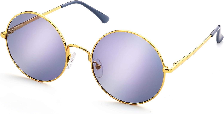 3 PAIR John Lennon Style Vintage Classic Circle Round Sunglasses Men Women PURPL