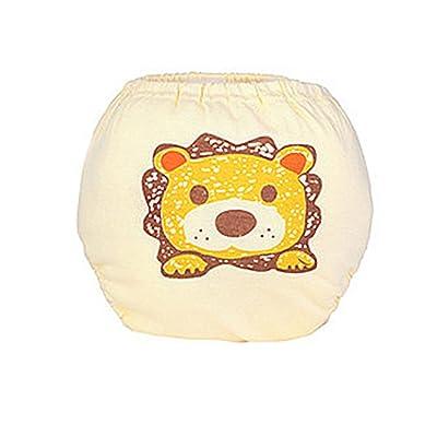 Fang sky Baby Underwear With Lion Pattern, Girl Boys Infant Cute Cartoon Pattern Underpants Cotton Blend,Size 100