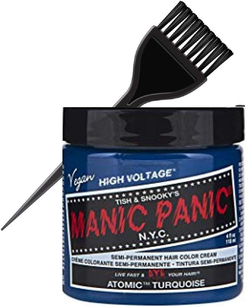 Tish Snooky Manic Panic clásico semi-permanente del pelo color crema NYC (W/Tinte liso Cepillo) Tish y Snooky DE vegano alto voltaje Color de pelo ...