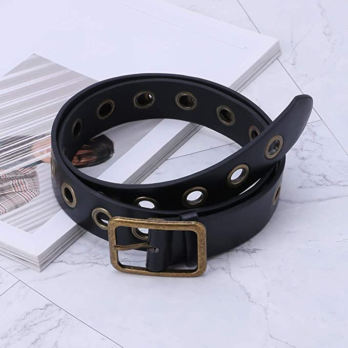 GROOMY Cintura Donna Uomo Cintura Universale Fibbia Regolabile in Metallo Decorazione Moda Pantaloni Pantaloni Jeans Abbigliamento Vestito Occhielli Ornamenti Casual