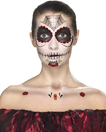 155717bb0dbfe Smiffys 41570 Day of The Dead Face Tattoo Transfers Kit (One Size):  Smiffys: Amazon.co.uk: Toys & Games