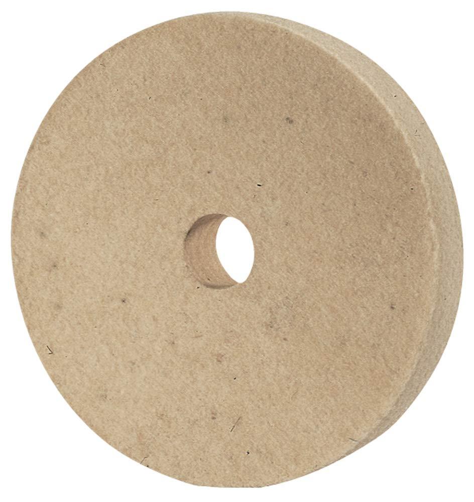 PFERD 48700 Felt Polishing Wheel 3//4 Arbor Hole 3000 Maximum RPM 8 Diameter x 1-1//4 Width