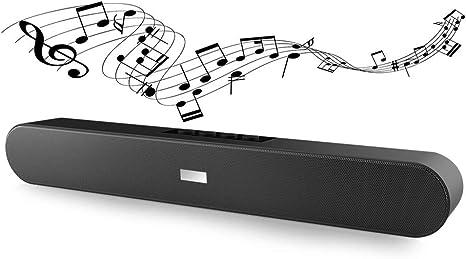 Amazon.com: Barra de sonido Bluetooth estéreo BT sistema de ...